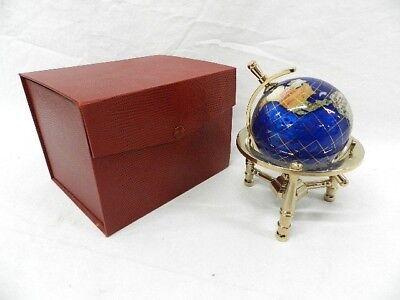Gemstone Globe with Marine Blue Opalite Ocean