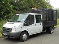 2011 FORD TRANSIT T350 LWB Euro 5 6spd CREW CAB CAGED TIPPER, FINANCE??