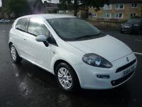 Fiat Punto 1.2i 8V 69BHP EASY **High Spec Stylish Model** (white) 2014