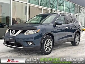 2015 Nissan Rogue SL AWD | Navi, Pano Moonroof, Leather, Bose