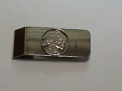Hand Cut Buffalo Nickel Indian Side coin made into a Hinged moneyclip  Coin Hinged Money Clips
