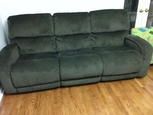 Brand New Microsuede Reclining Couches for Sale London Ontario image 1