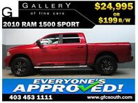 2010 DODGE RAM SPORT CREW *EVERYONE APPROVED* $0 DOWN $199/BW!