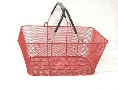 Convenience Store Shopping Super Market Basket Mesh Red Lot Of 5 New