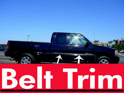 gmc SIERRA CHROME SIDE BELT TRIM DOOR MOLDING all year models 99 06 07 13