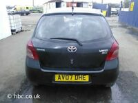 TOYOTA YARIS 2007 BREAKING FOR SPARES TEL 07814971951 HAVE FEW IN STOCK