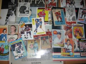 Collections, héritages, lots cartes & souvenirs hockey, baseball