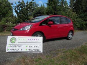 2012 Honda FIT SPORT, AUTO, LOADED, INSP, FREE WARRANTY, FINANCI