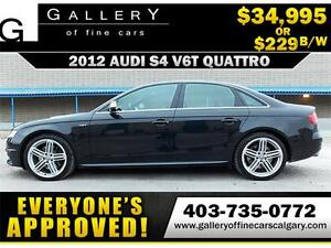 2012 Audi S4 Supercharged 3.0 $229 bi-weekly APPLY NOW DRIVE NOW