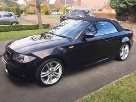 2010 BMW 118D M SPORT BLACK 1 Series Convertible - 79000 miles FSH 12 months MOT
