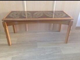 Quirky vintage teak coffee table retro