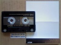 A2Z VERY RARE TDK SA-X 90 DUAL LAYER CHROME CASSETTE TAPES 1987-1989 BIG WINDOW ISSUE