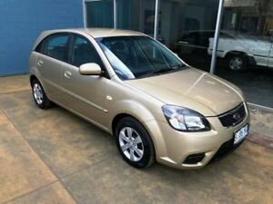 2010 Kia Rio JB MY10 S Cashmere Beige 5 Speed Manual Hatchback Hobart CBD Hobart City Preview