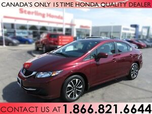 2014 Honda Civic EX | NO ACCIDENTS | 1 OWNER | LOW KM'S