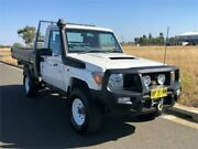 2012 Toyota Landcruiser VDJ79R MY10 Workmate White Manual Cab Chassis Brookvale Manly Area Preview