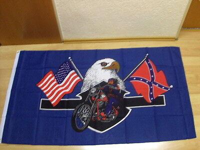Fahnen Flagge USA Highway Hero Biker - 90 x 150 cm