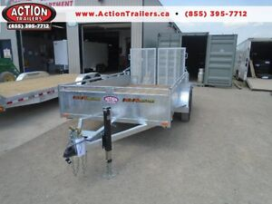 HIGH SIDED GALVANIZED LANDSCAPE TRAILER - 12' LONG CANADIAN MADE
