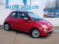 FIAT 500 1.2 LOUNGE 3d 69 BHP A LOW PRICE 3DR HATCHBACK (red) 2014