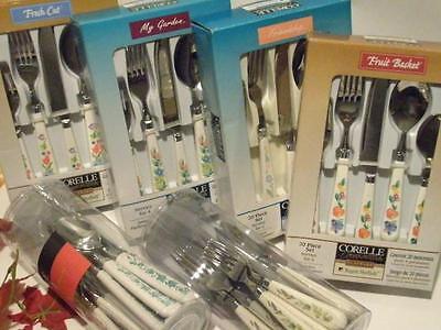 CORELLE FLATWARE SET > Choose Pattern < STAINLESS STEEL Kitchen Dining UTENSILS