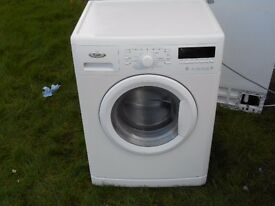 USED WHIRLPOOL 8 KG, 1400 SPIN, A +++ RATED WASHING MACHINE IN WHITE, FULLY TESTED , GENUINE PART EX