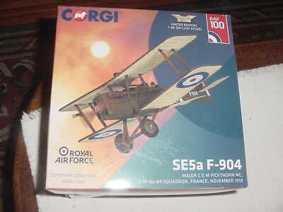 "Corgi Diecast Aircraft Model ""SE5a F-904"", 1918, 1:48 Scale,  MIB"