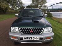 2003 53 MITSUBISHI L200 2.5 4LIFE DCB 4WD 1D 98 BHP DIESEL