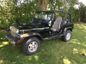 1995 Jeep Wrangler YJ sahara 6 cyl auto AC for Trade or sell