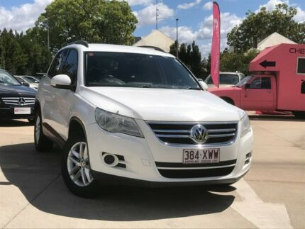 2009 Volkswagen Tiguan 5N MY10 103TDI 4MOTION White 6 Speed Sports Automatic Wagon South Toowoomba Toowoomba City Preview
