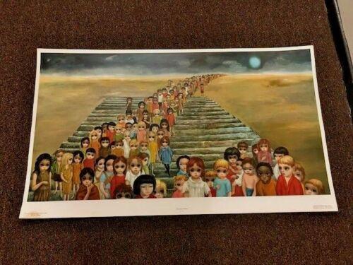 "Walter Keane (Margaret) Tomorrow Forever Vintage Litho Large Print 21 3/4"" x 37"""