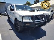 2012 Toyota Hilux KUN26R MY12 SR (4x4) White 5 Speed Manual Dual Cab Pick-up Canley Vale Fairfield Area Preview