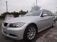 BMW 318D SE TOURING~57/2007~6 SPEED MANUAL~5 DOOR ESTATE~STUNNING SILVER~SUPERB