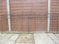 """Wrought Iron Gates, double 17'-2"""" height 3ft"""
