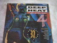Vinyl LP Deep Heat 4 - Various Artists Play With Fire 32 Hottest House Hits Telstar STAR 2388
