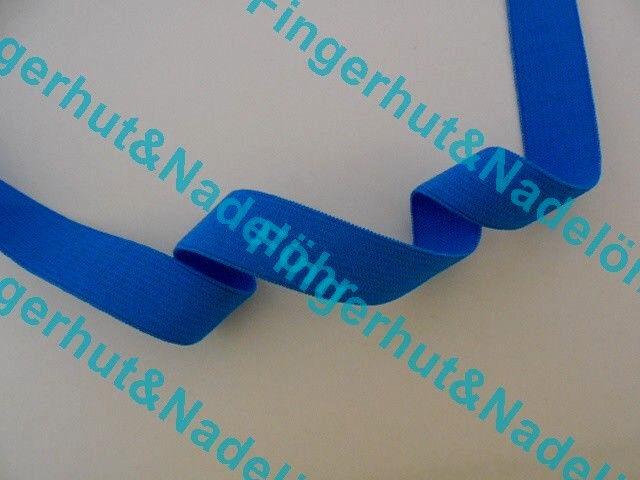 (1,70€/m) 1 m Gummiband 40 mm / 4 cm Blau Gummibänder Gummi