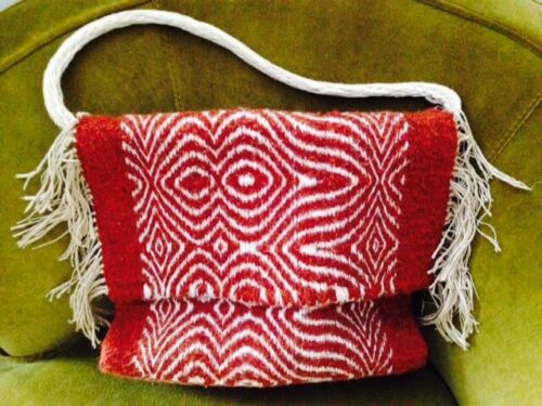 DYBERRY WEAVER HANDBAG/  Hand Dyed/  ONE OF A KIND/. HAND LOOM WOVEN
