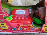 kids toy cash register brand new damaged box can post