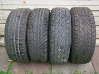 4-265/70R17 M+S ALL SEASON TIRES CAN SELL IN PAIRS