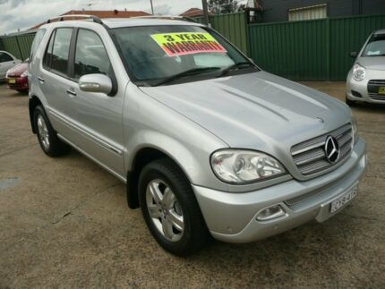 2005 Mercedes-Benz ML W163 350 Luxury (4x4) Silver Metallic 5 Speed Auto Tipshift Wagon Croydon Burwood Area Preview