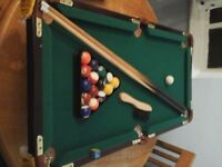 Miniature Pool Table - great for kids - scaled model