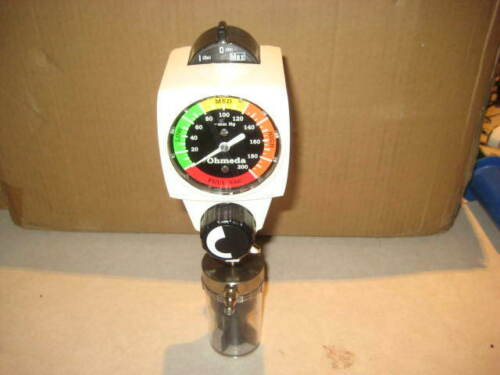 Ohmeda 200 Wall Continuous Vacuum Regulator 0-200 & Water Trap