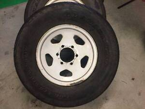 4 x 4 15inch 6J wheels with tyres set Manoora Cairns City Preview