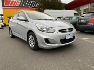 2016 Hyundai Accent RB3 MY16 Active Silver 6 Speed Constant Variable Hatchback Lilydale Yarra Ranges Preview