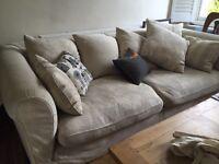 Large Cream Sofa - 250cm long & 120cm deep.
