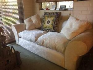 sofa couch, 2.5 seater, white feather filled, Freedom furniture Redcliffe Belmont Area Preview