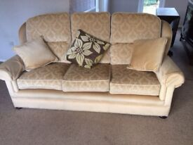 Traditional Gold 3 Seater Sofa - all offers considered