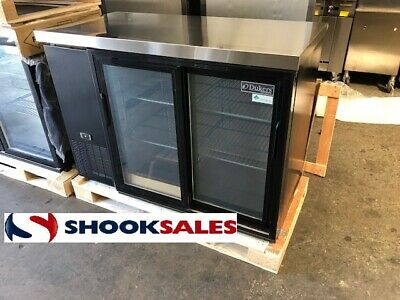 Dukers Dbb48-s2 48 Refrigerated Back Bar Cooler With Slide Door Great Warranty