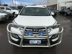 2013 Hyundai Santa Fe DM Active CRDi (4x4) White 6 Speed Automatic Wagon