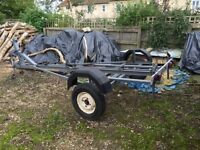 BOAT TRAILER , SUITABLE FOR 15/16ft BOAT, Winch, Double Jockey Wheels,Good Tyres, Very Sturdy
