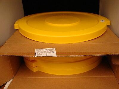 CARLISLE 34102104 BRONCO 20 GALLON ROUND TRASH CAN LID YELLO