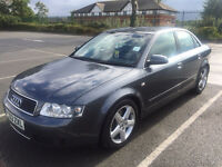 AUDI A4 2003 MODEL, 2.4 V6 PETROL ONLY £3,200. FULL SPEC INSIDE, QUICK SALE, VIEWING ADVISED